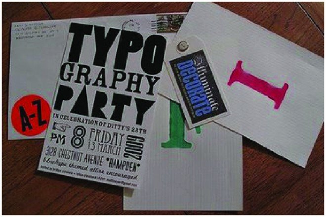 typography party