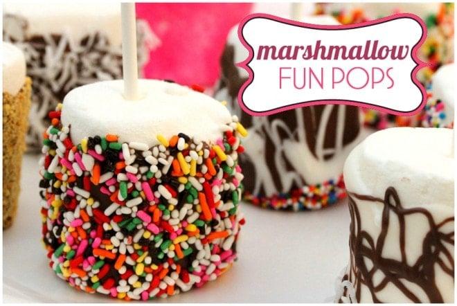 {Recipe} Marshmallow Fun Pops!