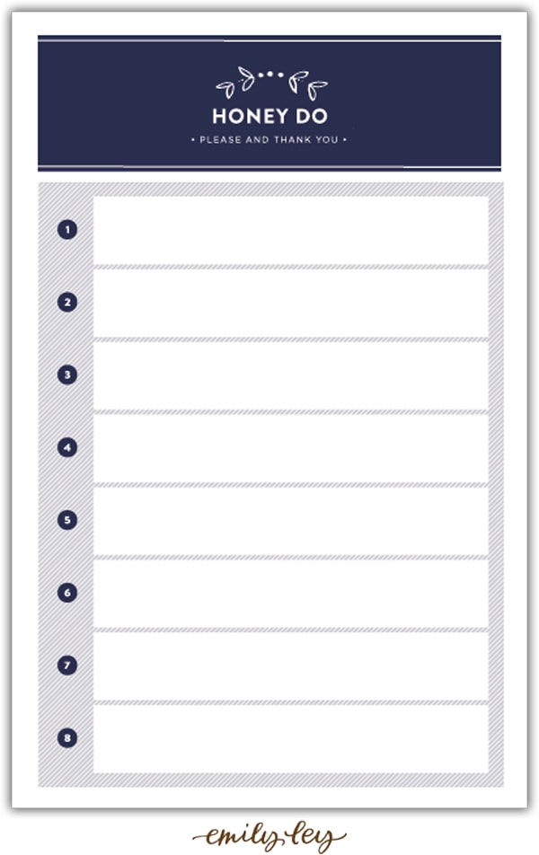 honey do list pad