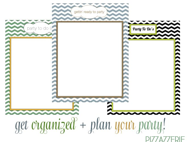 Free PARTY TO-DO List Printables!
