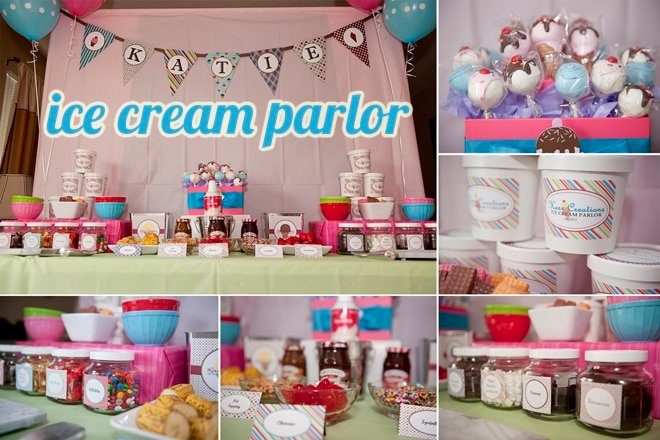 ice cream parlor birthday party