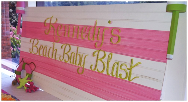 beach baby shower sign