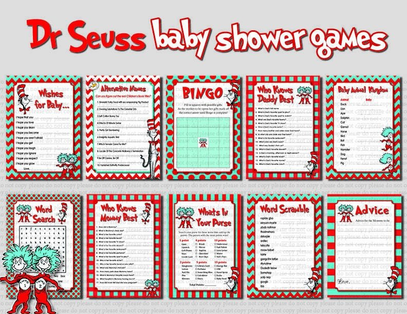 Dr. Seuss Baby Shower Games