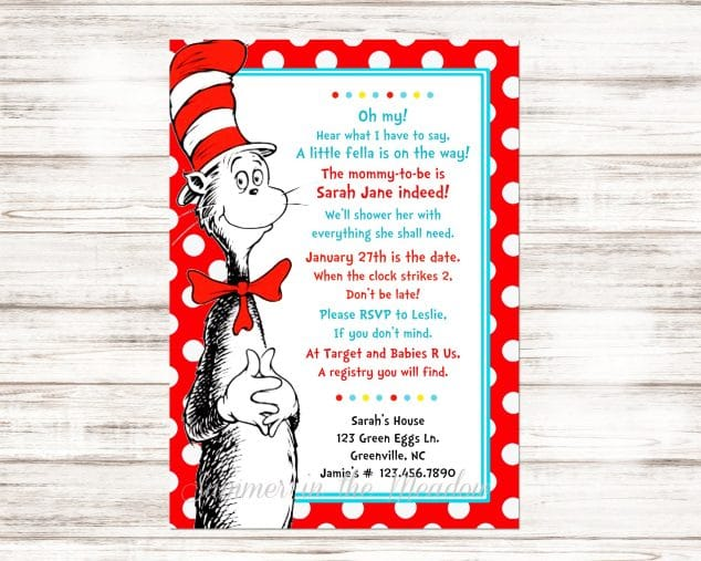 Dr Seuss Baby Shower Ideas Party Food Decorations And