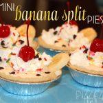 mini banana split pies