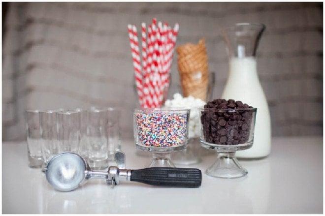 miniature milkshakes