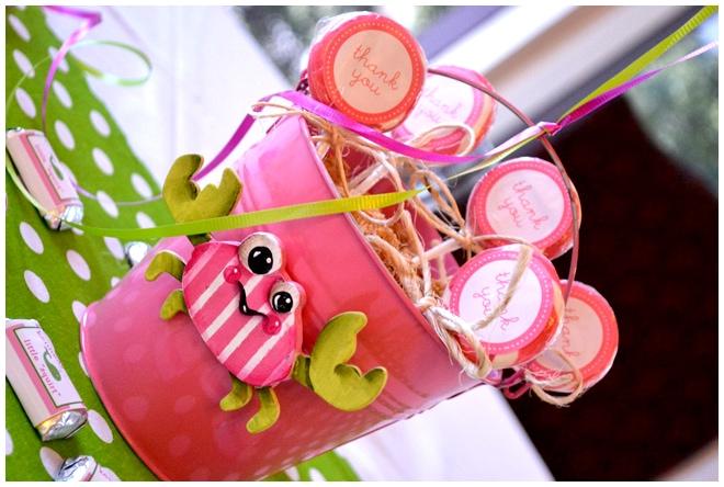pink crab preppy beach party