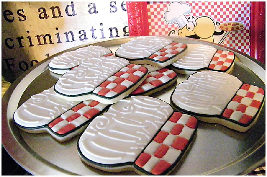 pizza chef hat party cookies
