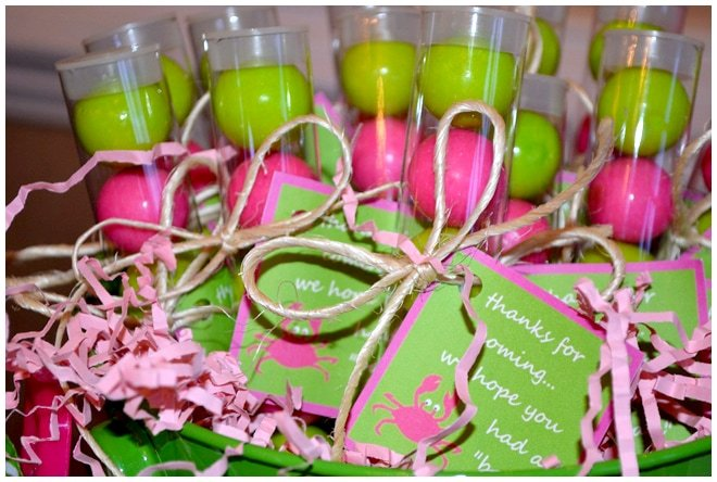 preppy gum ball favors