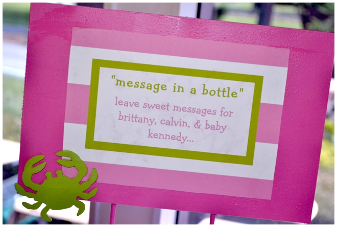 preppy message in bottle