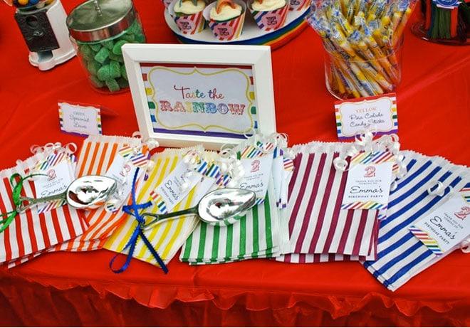 rainbow birthday favors