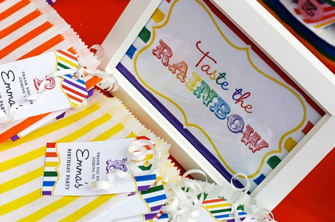 taste the rainbow birthday party