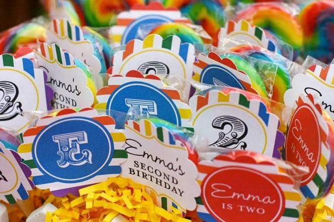 rainbow birthday printables