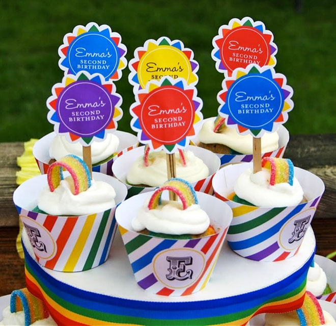 rainbow party cupcakes