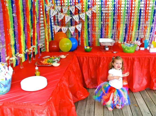 rainbow birthday party 2nd