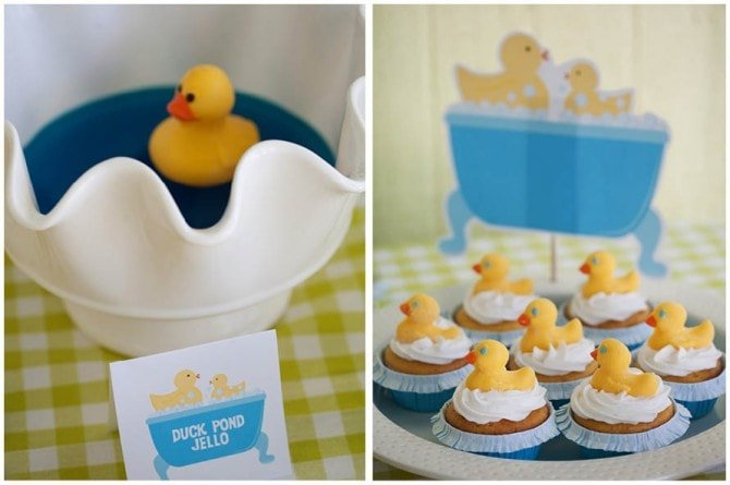 rubber ducky birthday cupcakes and treats