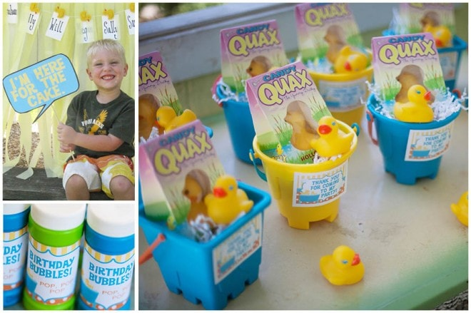 rubber ducky birthday decorations