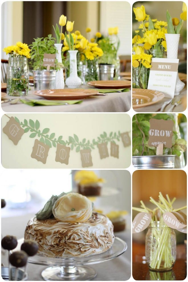 rustic garden themed baby shower 1