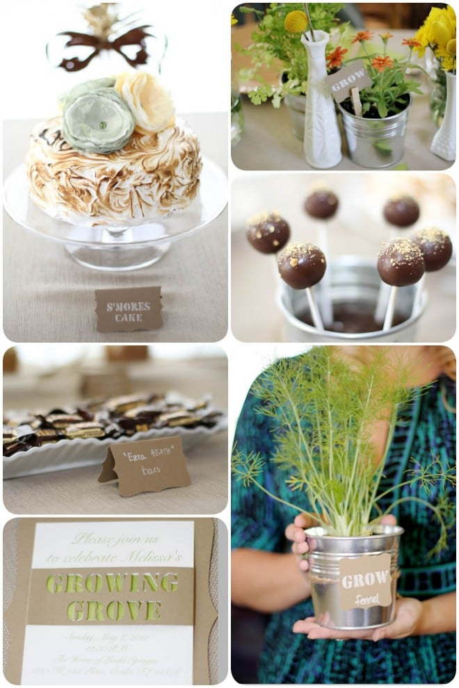 rustic garden themed baby shower 2