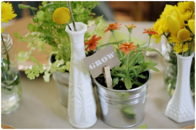 rustic gardening themed baby shower 3