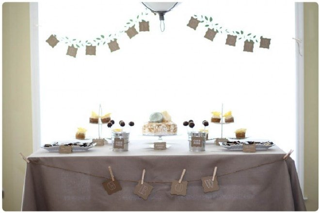 baby shower tablescape