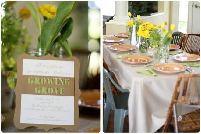 rustic gardening themed baby shower 9