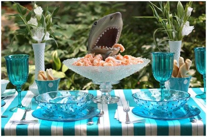 Jawsome Shark Boy Birthday Party Design Ideas Of 9th