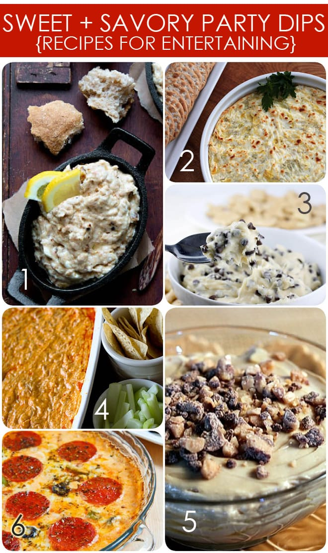 sweet and savory party dip recipes