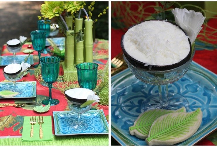 Rainforest Tablescape + Coconut Sorbet!