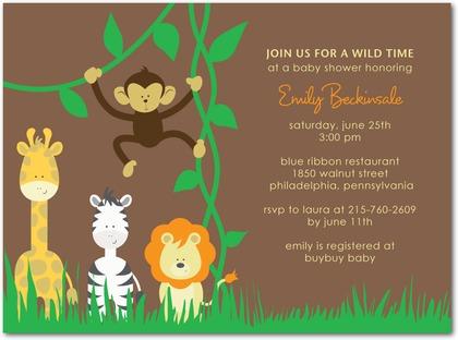 safari animals invitation