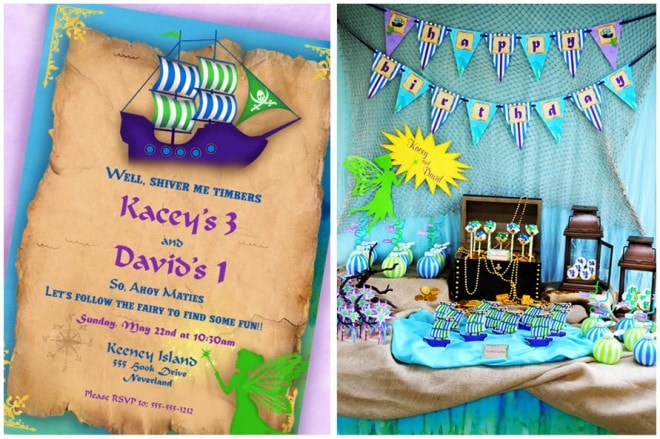 Pirates and Fairies Birthday Party