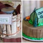 boy's camp out themed party pictures 1