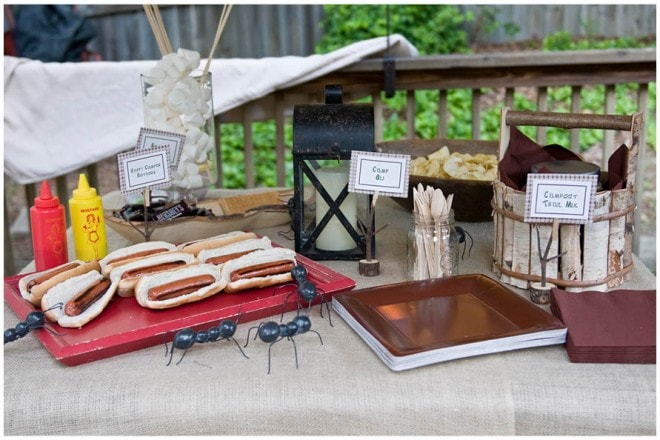 boy's camp out themed party pictures 3
