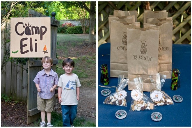 boy's camp out themed party pictures 4