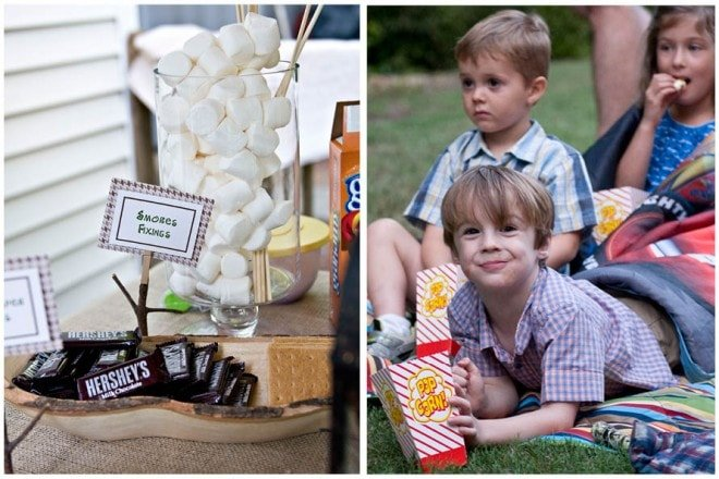 boy's camp out themed party pictures 5