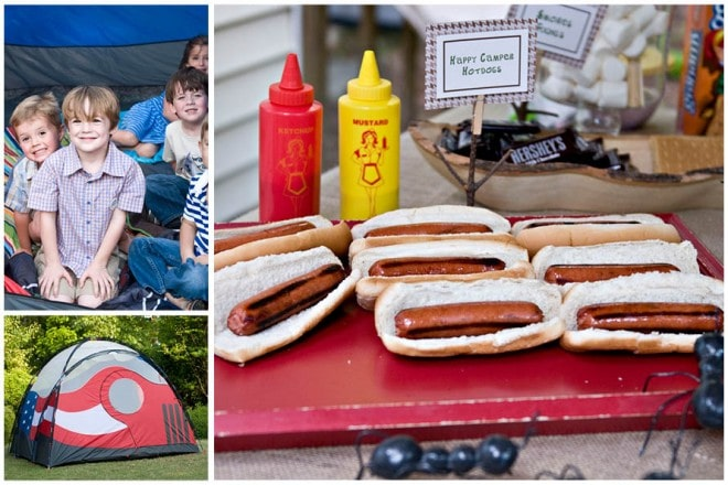 boy's camp out themed party pictures 6