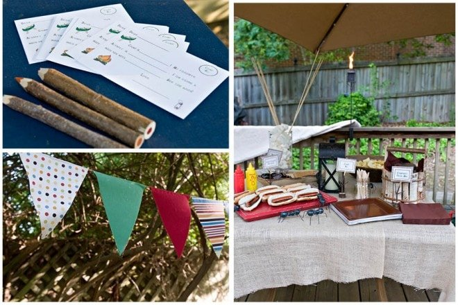 boy's camp out themed party pictures 9