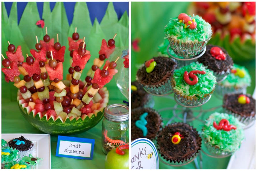 Bug Themed Nd Birthday Party Pizzazzerie - Bug cupcake decorating ideas