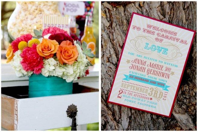 carnival themed wedding ideas