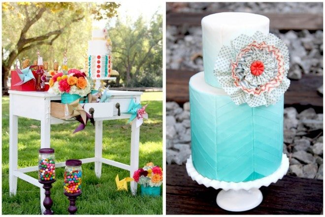 carnival colorful themed wedding ideas