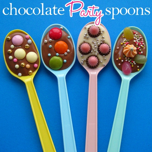 chocolate party spoons