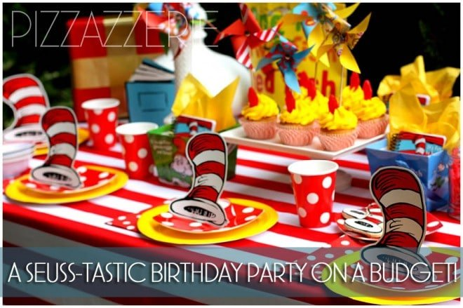 dr seuss birthday party cat in hat table 2
