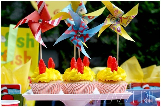 dr seuss birthday party cupcakes