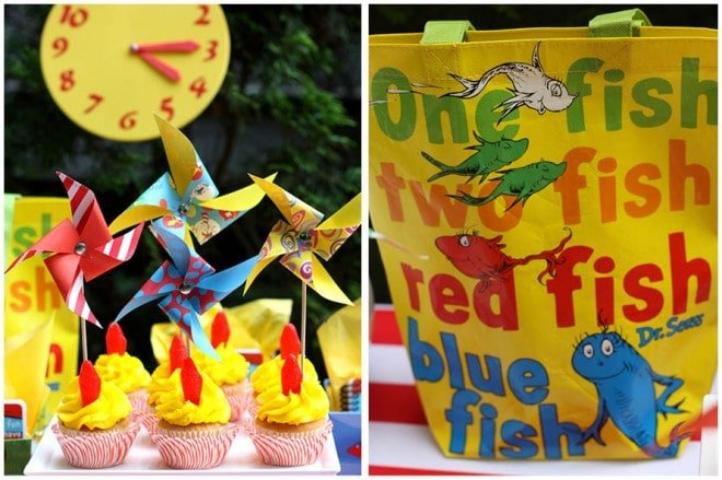 dr seuss birthday party table decor