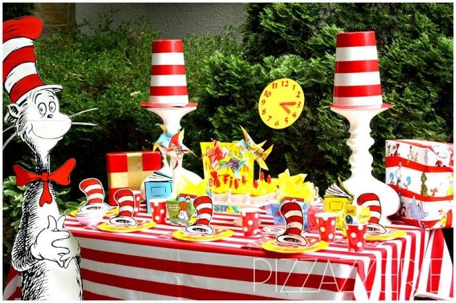 dr seuss birthday party table