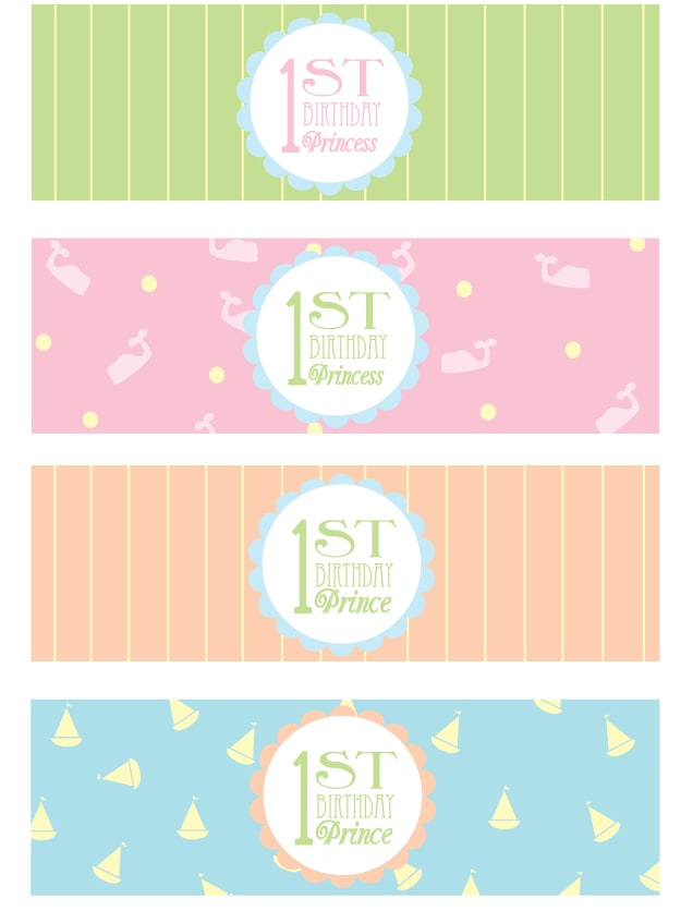 free 1st birthday party printables 3