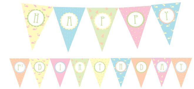 free 1st birthday party printables
