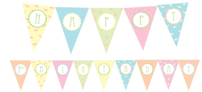 free 1st birthday party printables