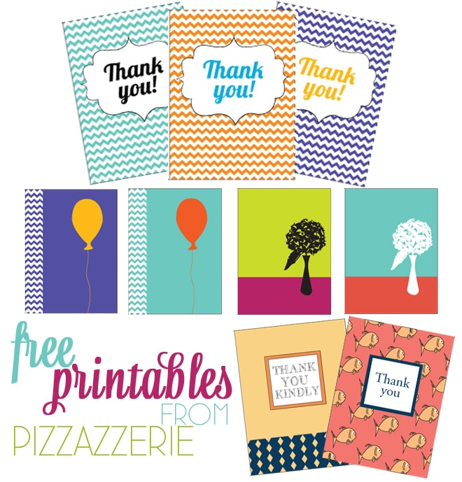 Free Stationery Thank You Card Printables Pizzazzerie