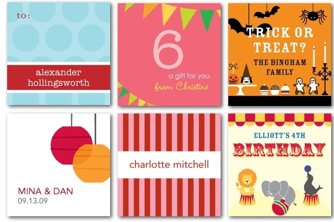 gift tags from tinyprints